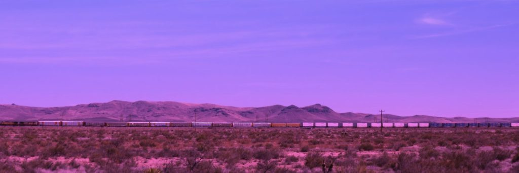 The western train to Deming, New Mexico