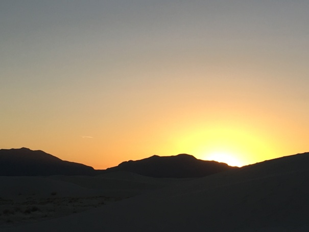 Sunset from White Sands National Park